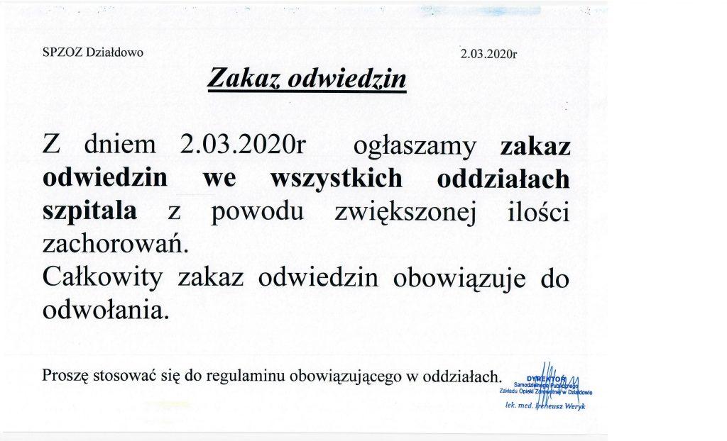 Ogłoszenie Dyrektora SP ZOZ w Działdowie