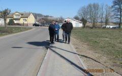 Odbiór przebudowy chodnika przy drodze powiatowej nr 1294 N w m. Nick