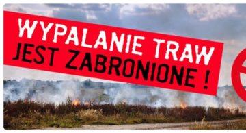 Minister Rolnictwa i Rozwoju Wsi ostrzega przed wypalaniem traw!