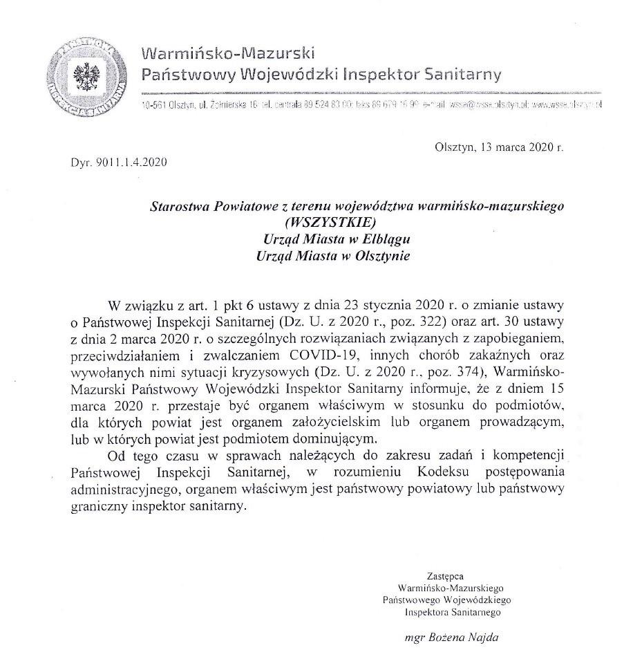 Uwaga mieszkańcy powiatu działdowskiego!!!