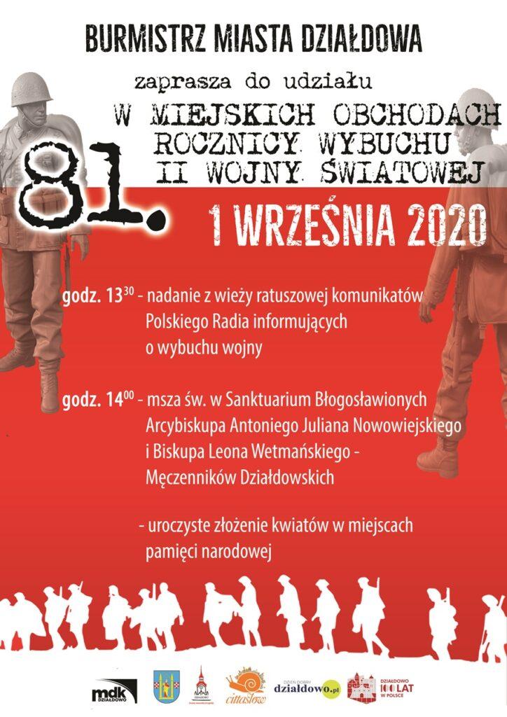 Miejskie obchody 81. rocznicy wybuchu II wojny światowej w Działdowie