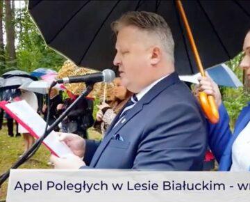 Uroczystości upamiętniające męczeństwo więźniów obozu Soldau w lesie białuckim (film)