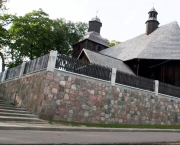 Dzięki środkom Powiatu Działdowskiego i Gminy Rybno kościół w Rumianie ma odnowiony zabytkowy mur (film)