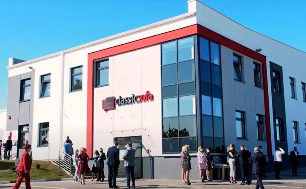 Otwarcie nowego kompleksu biurowo-produkcyjno-magazynowego Classic Sofa w Lidzbarku