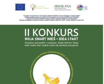 """Zaproszenie do konkursu """"MOJA SMART wieś. IDEA i FAKT""""."""