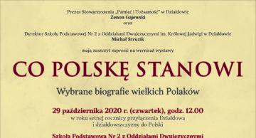 """Zaproszenie na wernisaż wystawy """"Co Polskę stanowi"""""""
