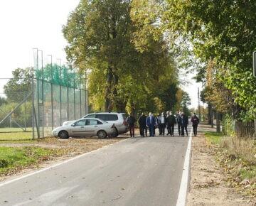 Odbiór 4-kilometrowego odcinka drogi powiatowej 1256N Dębień - Rumian (film)