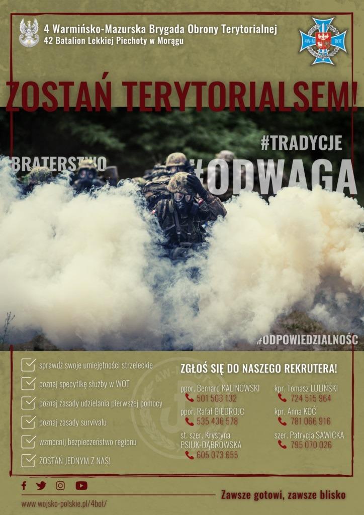 Wstąp w szeregi Wojsk Obrony Terytorialnej
