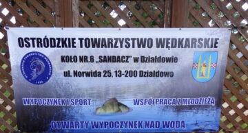 """Cennik opłat za wędkowanie dla członków OTW Koło nr 6 """"Sandacz"""" w Działdowie"""