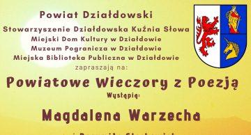 Zaproszenie na pierwsze spotkanie w ramach Powiatowych Wieczorów z Poezją!