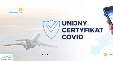 Jesteśmy w systemie Unijnych Certyfikatów Covid!