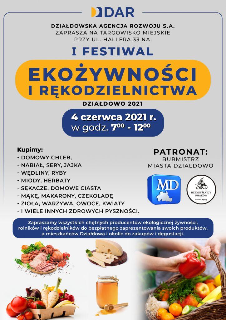 Zaproszenie na I Festiwal Ekożywności i Rękodzielnictwa