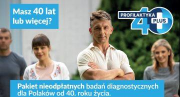 Bezpłatny pakiet diagnostyczny dla osób 40+!