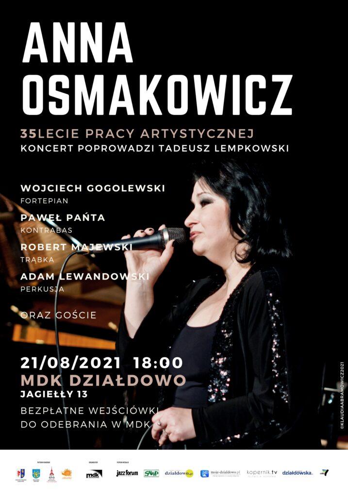 Zaproszenie na koncert Anny Osmakowicz