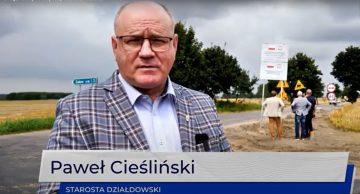 Zaawansowanie prac na drodze powiatowej 1365N Kisiny-Petrykozy (film)