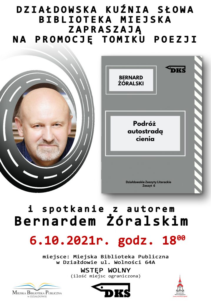 Zaproszenie na promocję tomiku wierszy Bernarda Żóralskiego