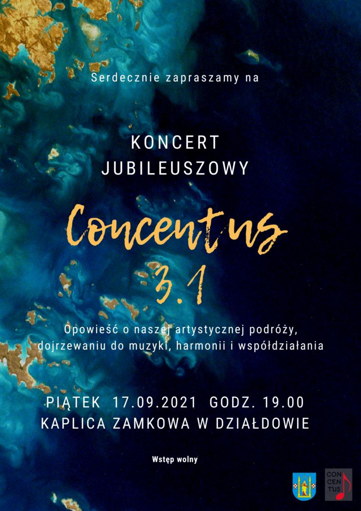 Zaproszenie na koncert jubileuszowy Chóru Concentus