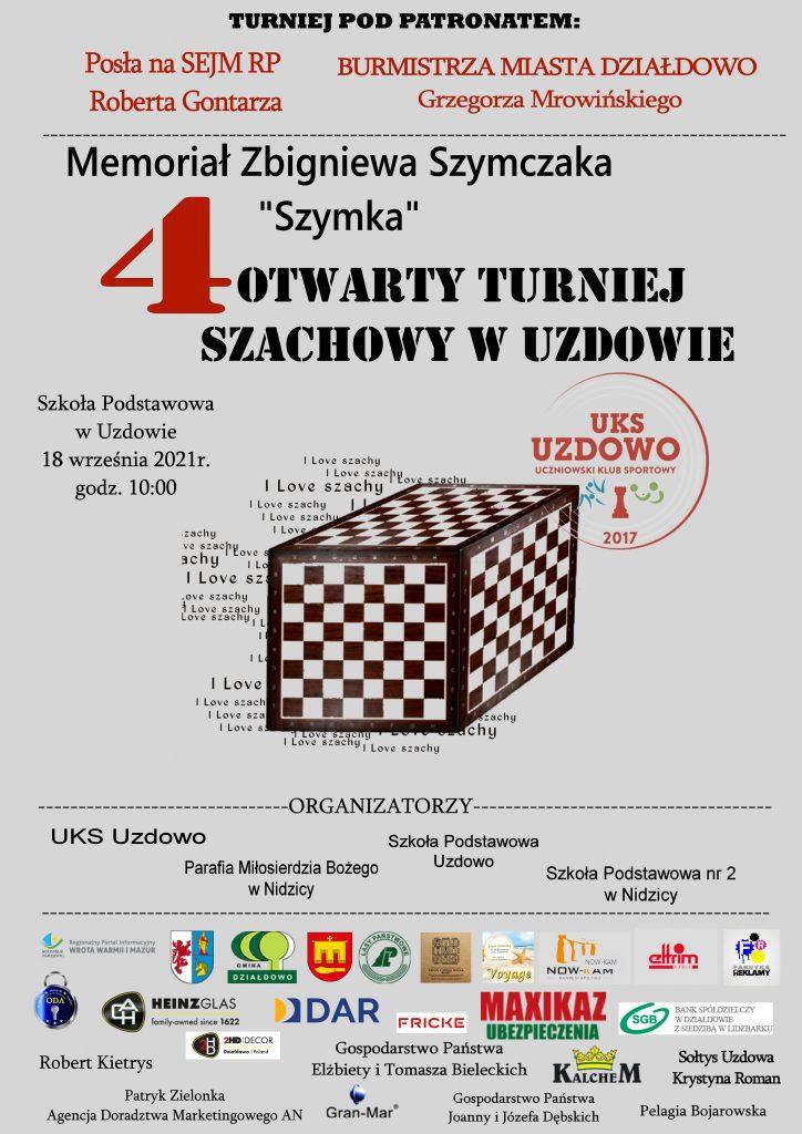 Zaproszenie na 4. Otwarty Turniej Szachowy w Uzdowie